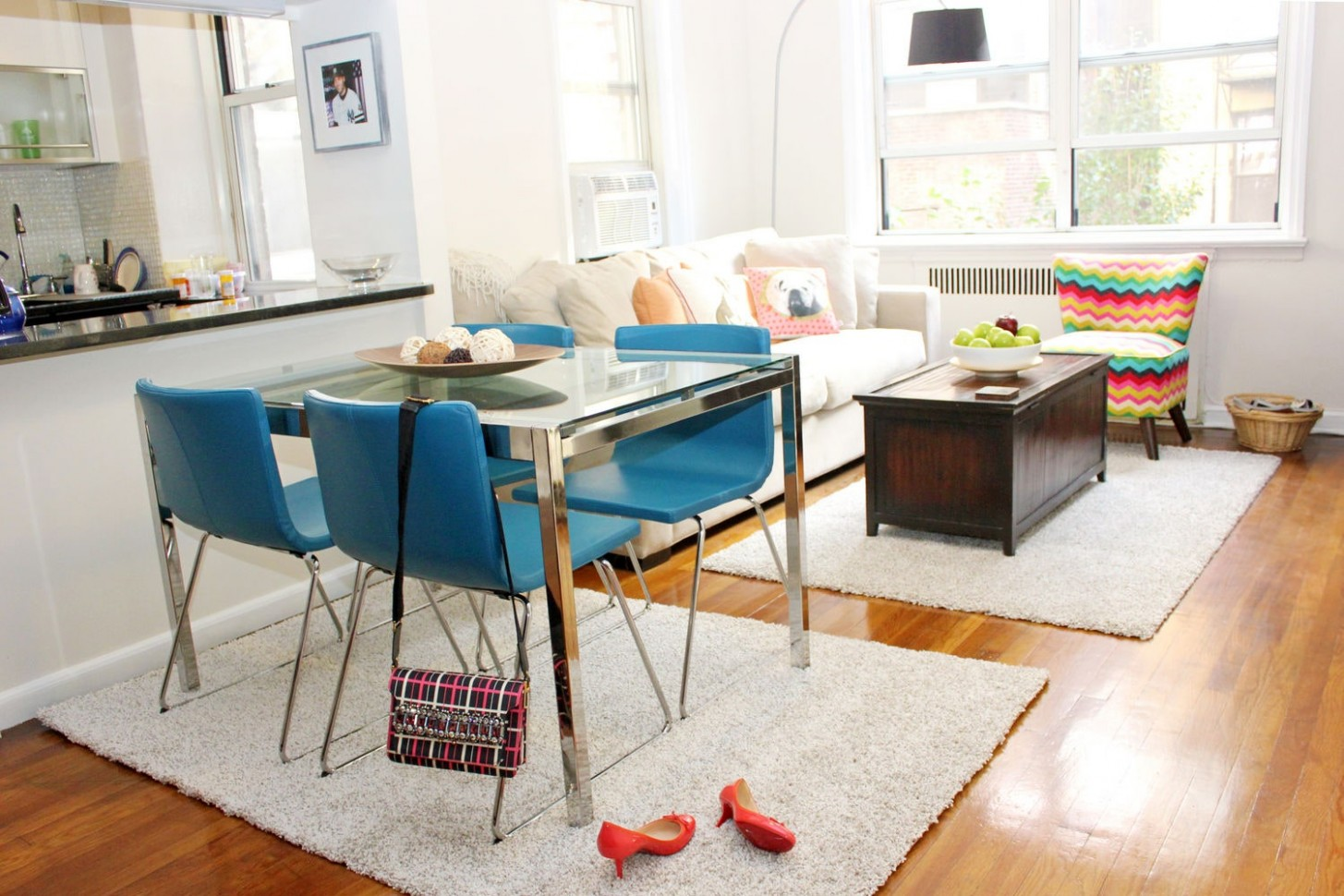 Best Furniture and Home Decorating for Small Spaces, Studio  - Dining Room Ideas For Small Apartments