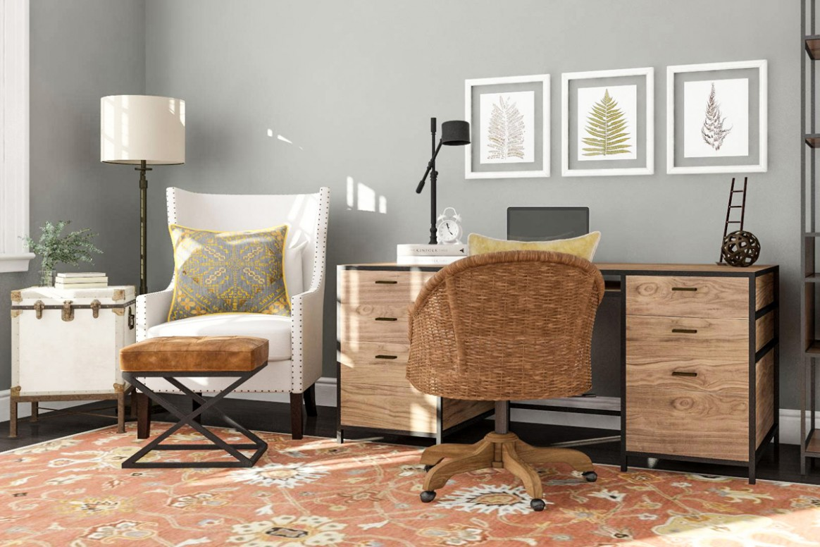 Best Home Office Ideas for a Productive Work Space  Modsy Blog - Home Office Ideas Rustic