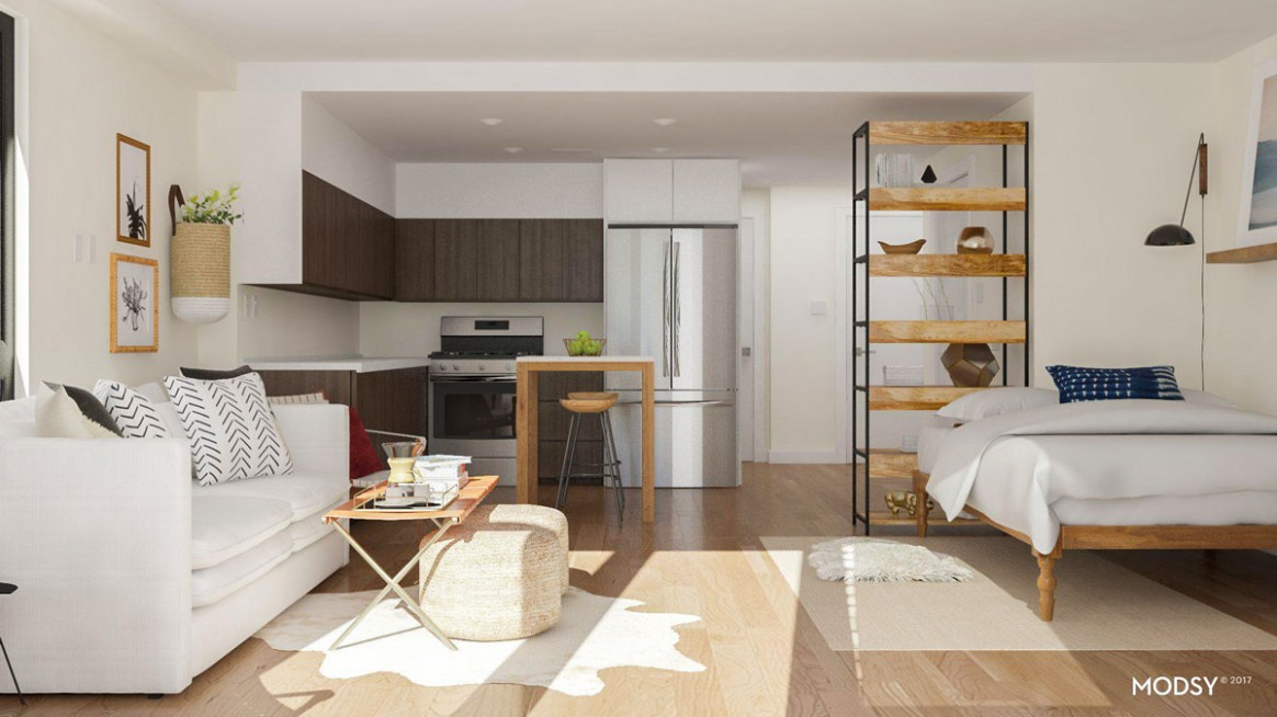 Best Studio Apartment Layout Ideas: 11 Ways to Arrange a Square Studio - Apartment Design Guide Part 5