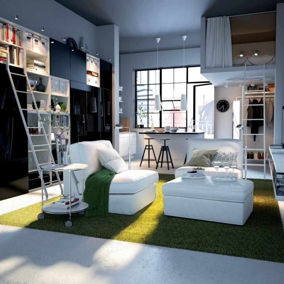 Big Design Ideas for Small Studio Apartments  Small apartment  - Small Apartment Decorating Ideas Ikea