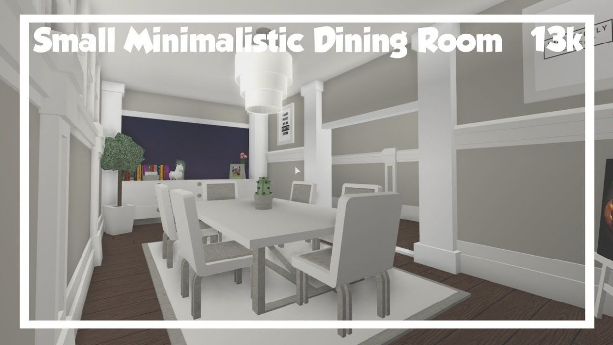 Bloxburg  Small Minimalistic Dining Room  Speedbuild
