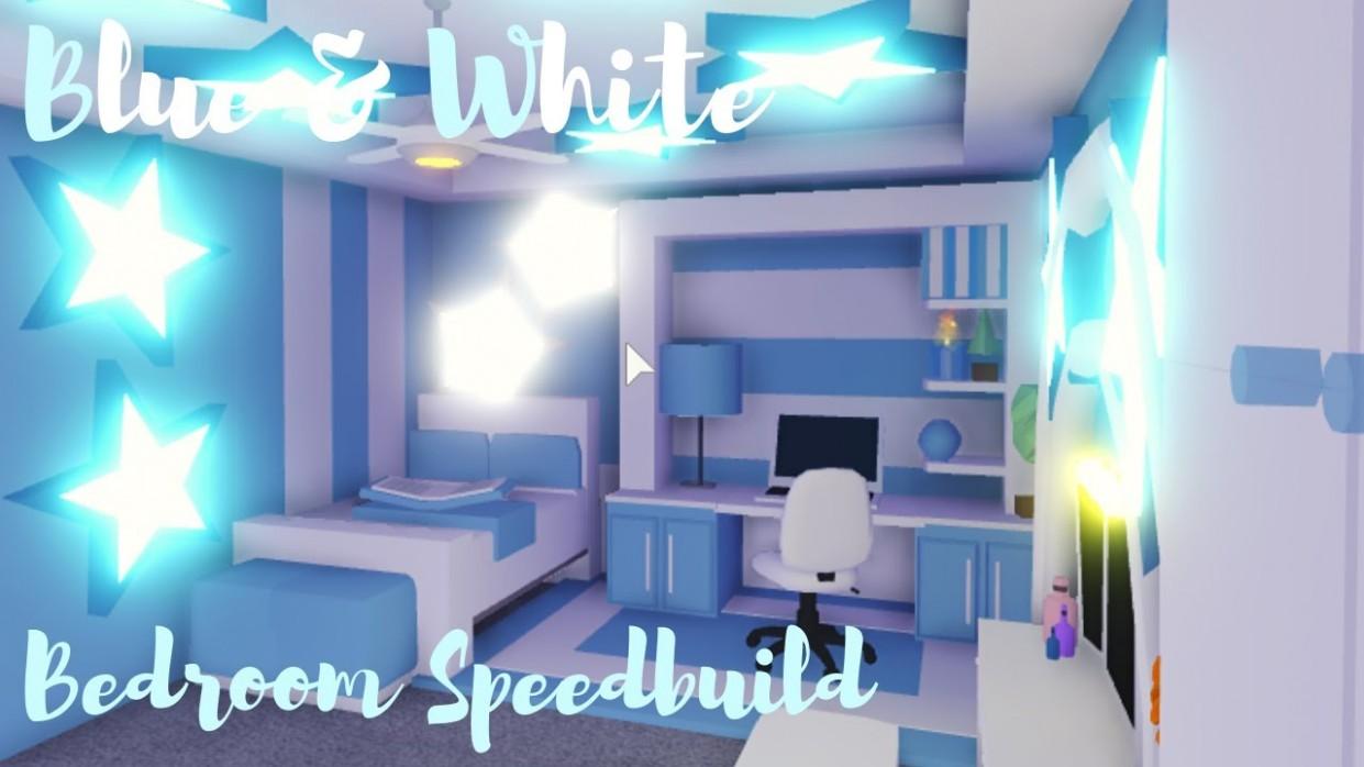 Blue&White BEDROOM SPEEDBUILD ♡Adopt me Roblox - Bedroom Ideas In Adopt Me