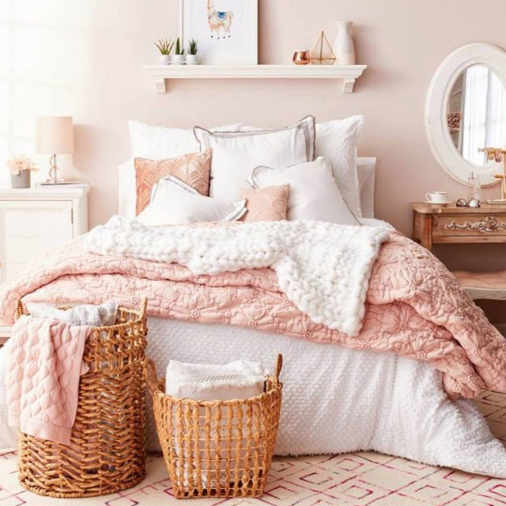 Blush Pink Bedroom Ideas - Dusty Rose Bedroom Decor and Bedding I  - Bedroom Ideas Pink