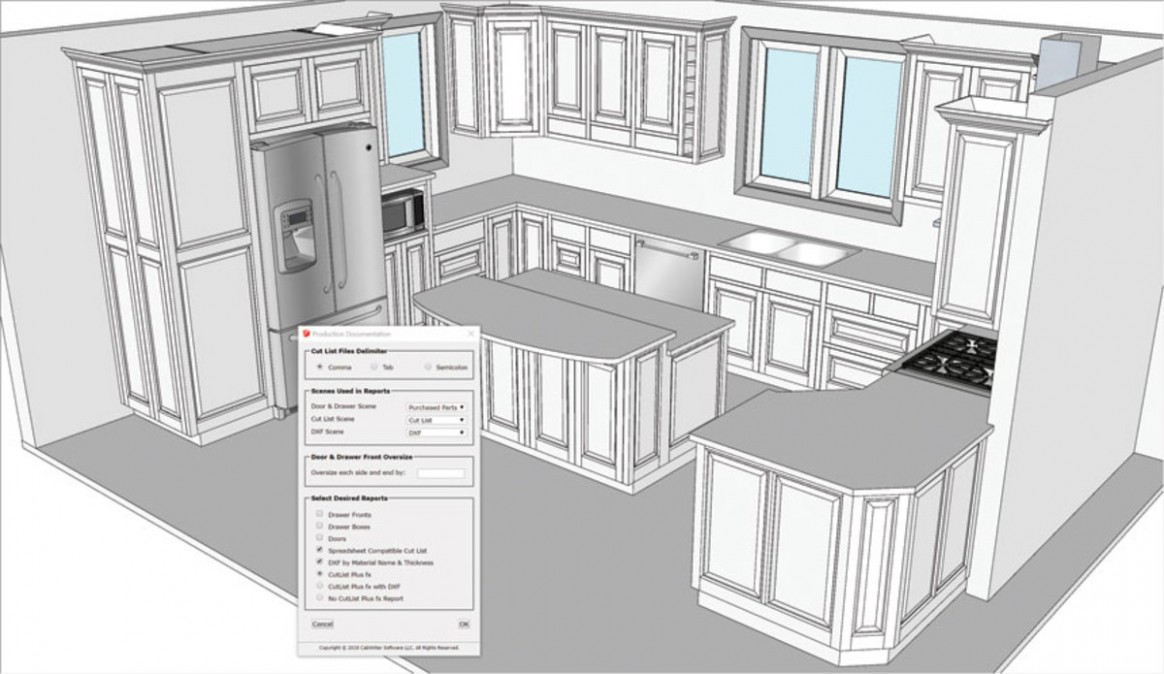 CabWriter updates cabinet design extensions for SketchUp  - Kitchen Cabinet Building Software