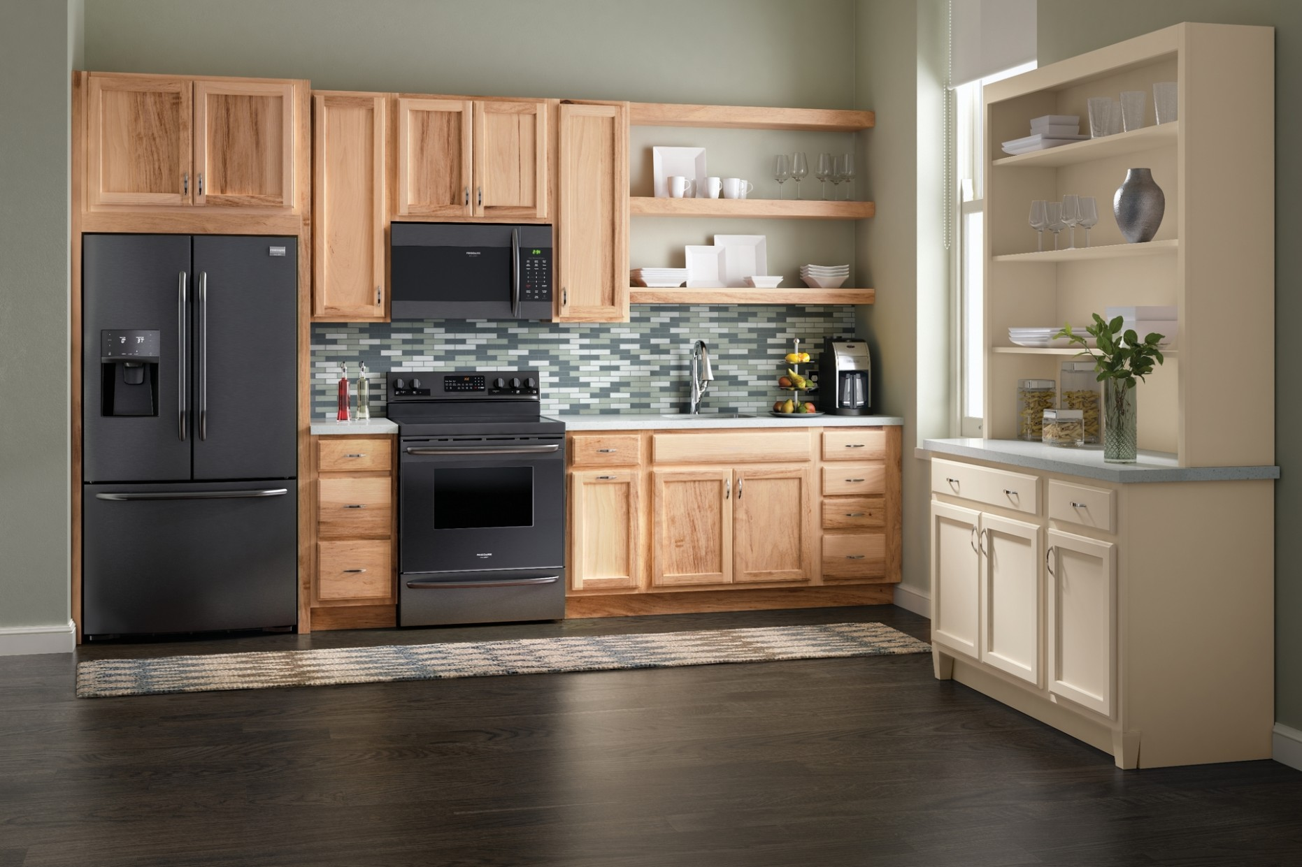 Cardell Kitchen Cabinets - Springmont Square in Natural - Natural Hickory Kitchen Cabinets