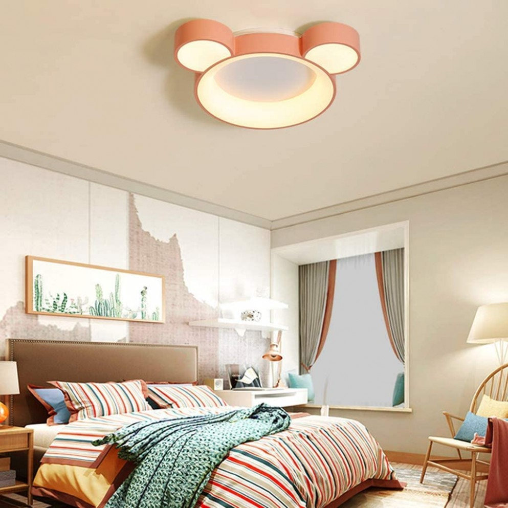 Cartoon Light Fixtures Ceiling Baby Room LED Chandelier Bedroom  - Baby Room Light Fixtures
