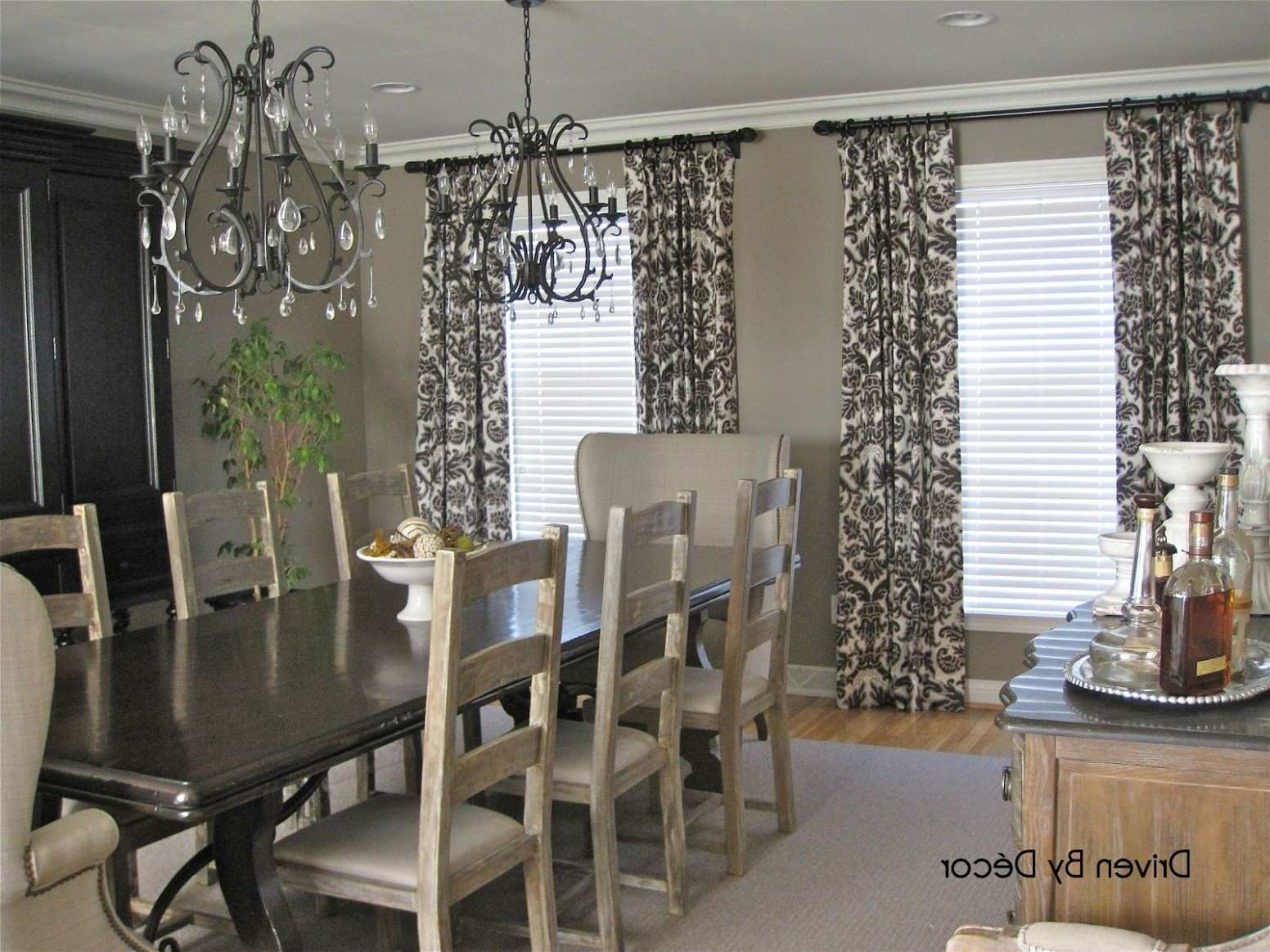 Casual Dining Room Curtains Home Design Ideas Curtain Window  - Dining Room Drapes Ideas
