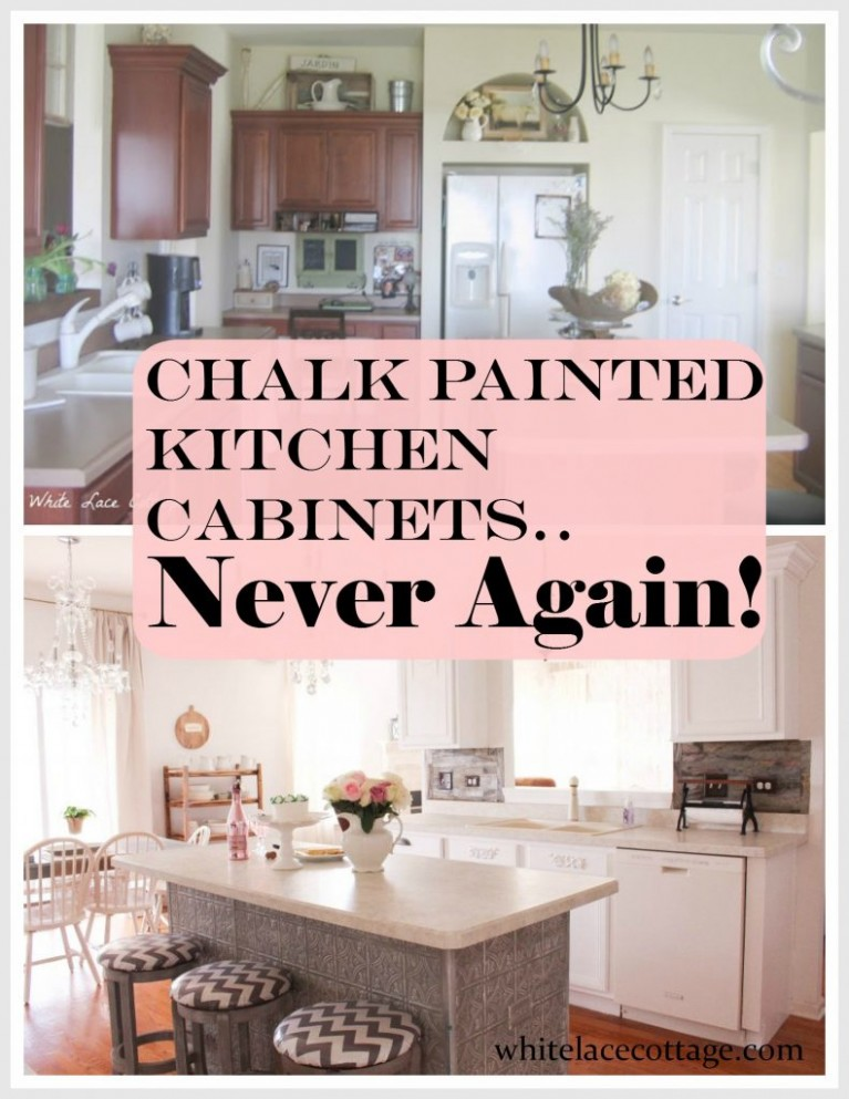 Chalk Painted Kitchen Cabinets Never Again! - ANNE P MAKEUP AND MORE - Distressed Milk Paint Kitchen Cabinets