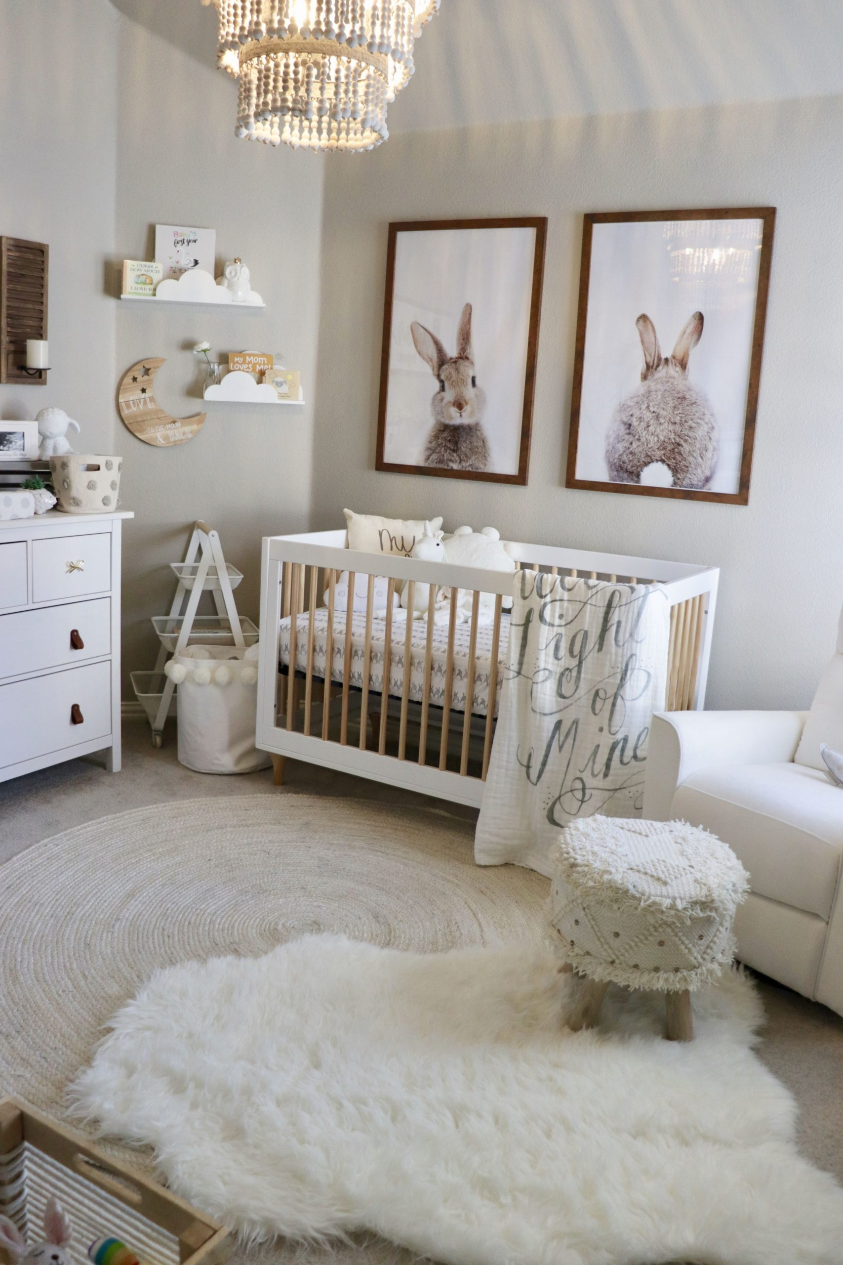 Classic Baby Girl Nursery - Project Nursery  Nursery baby room  - Baby Room With Queen Bed