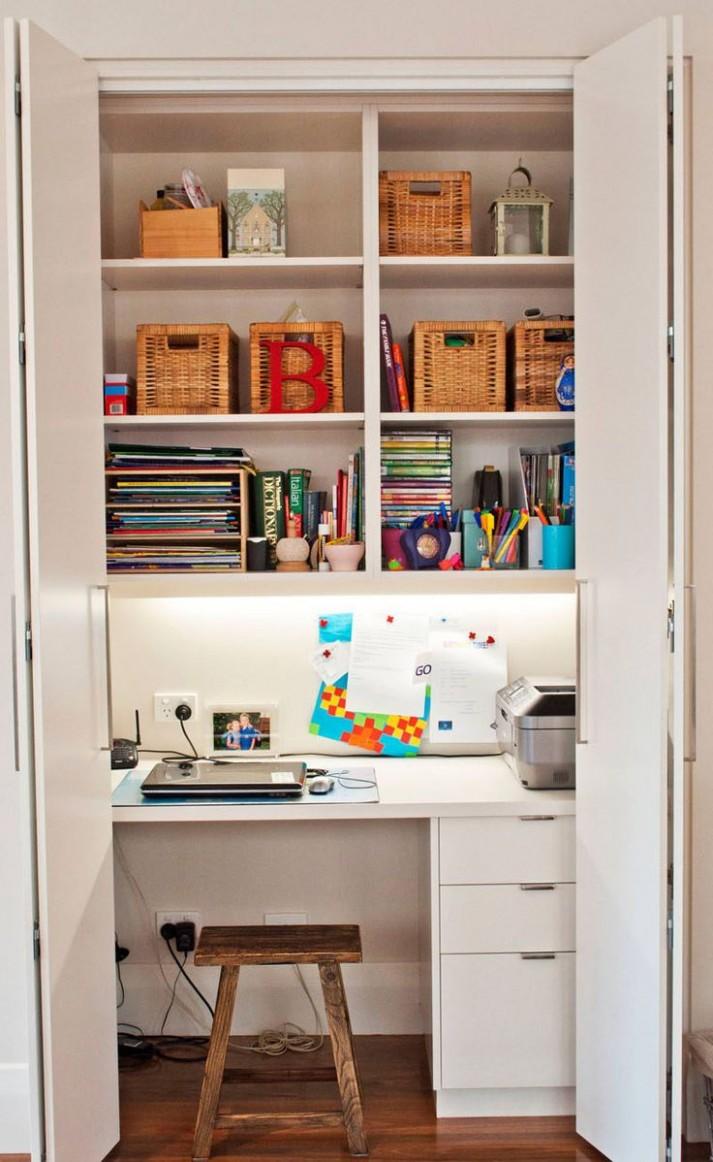 closet office desk - guest desk decorating ideas  Elbow Room - Closet Office Ideas