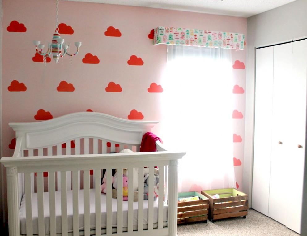 Cloud-Themed Nurseries - Project Nursery - Baby Room Stencils