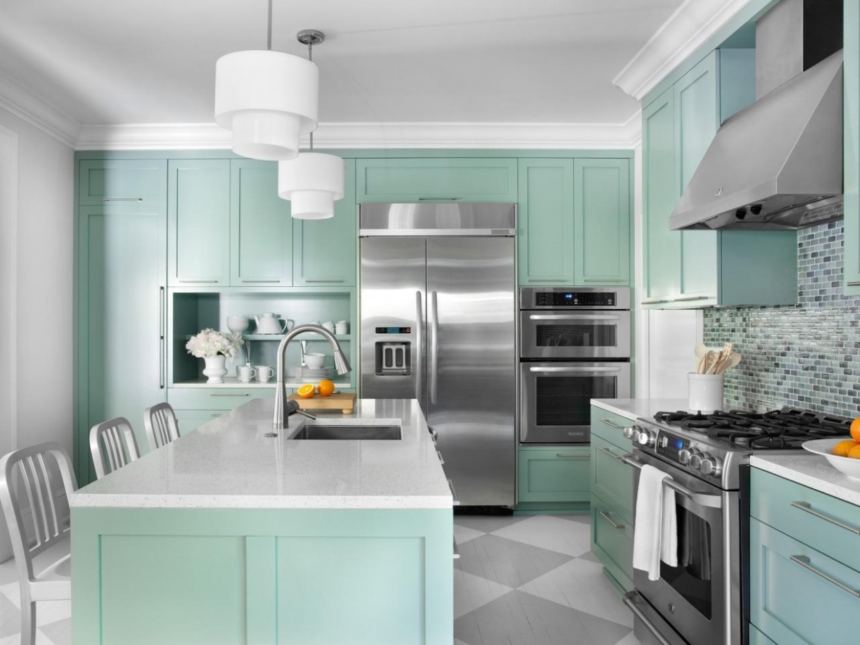 Color Ideas for Painting Kitchen Cabinets + HGTV Pictures  HGTV - Ideas For Painting Kitchen Cabinets And Walls