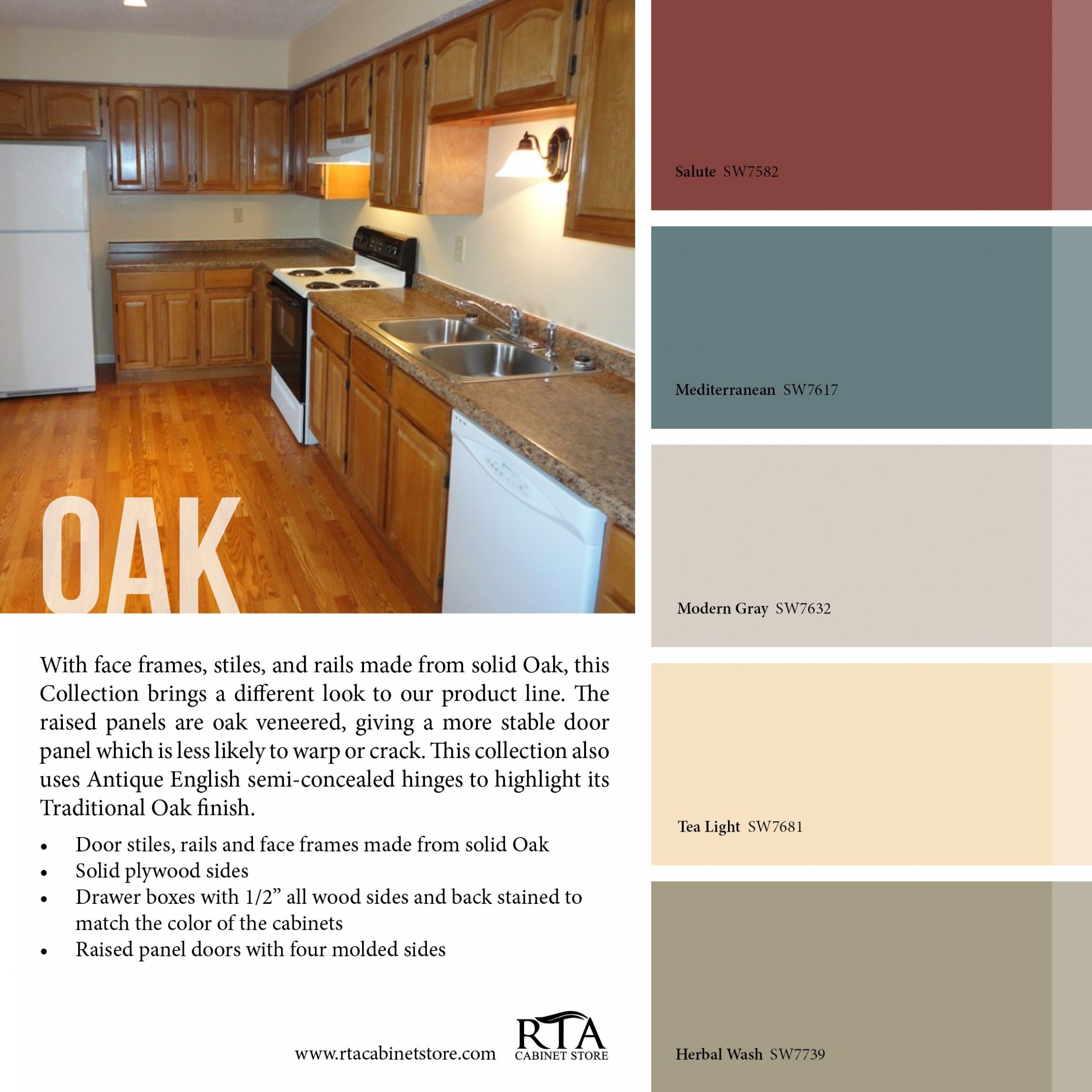 Color palette to go with oak kitchen cabinet line- for those with  - Kitchen Cabinet Accent Paint