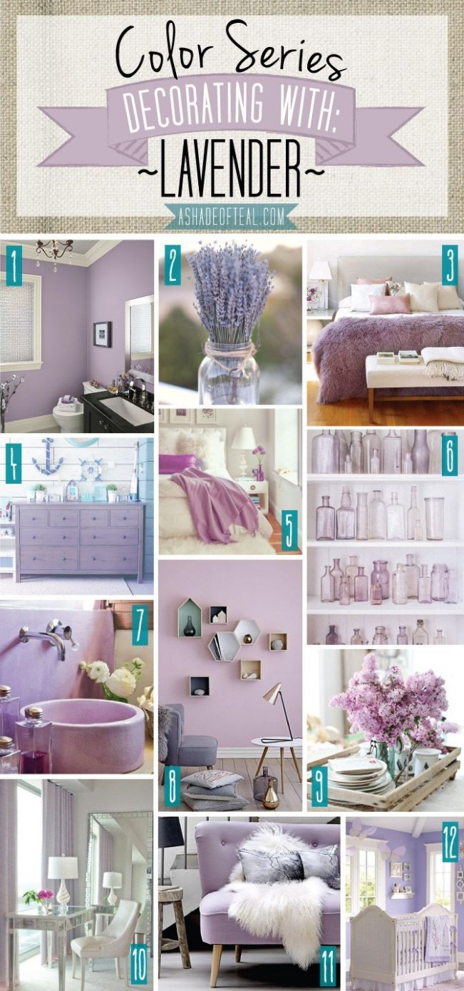 Color Series; Decorating with Lavender  Lilac bedroom, Bedroom  - Bedroom Ideas Lavender