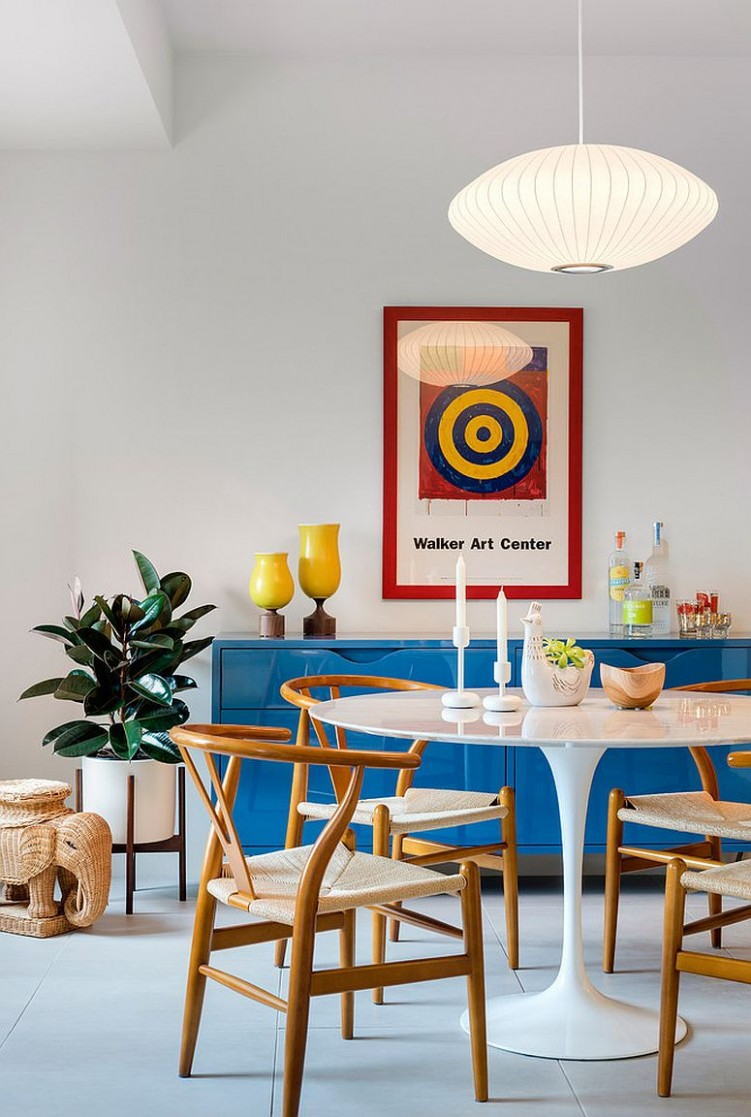 Colorful Zest: How to Add Retro Glam to Your Dining Room - Dining Room Ideas Retro