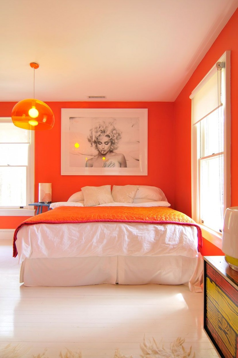 Colors That Make Orange and Compliment Its Tones  Orange bedroom  - Bedroom Ideas Orange