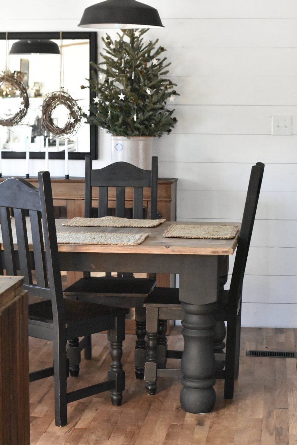 Coming Soon  Modern farmhouse dining room, Farmhouse dining rooms  - Dining Room Ideas Black Furniture