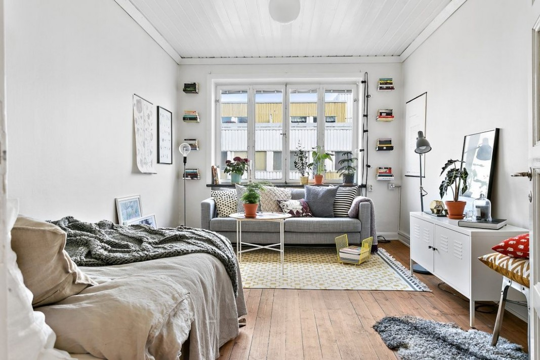 Cool & fresh studio apartment perfect for a student  Inredning  - Apartment Decorating Ideas For Students