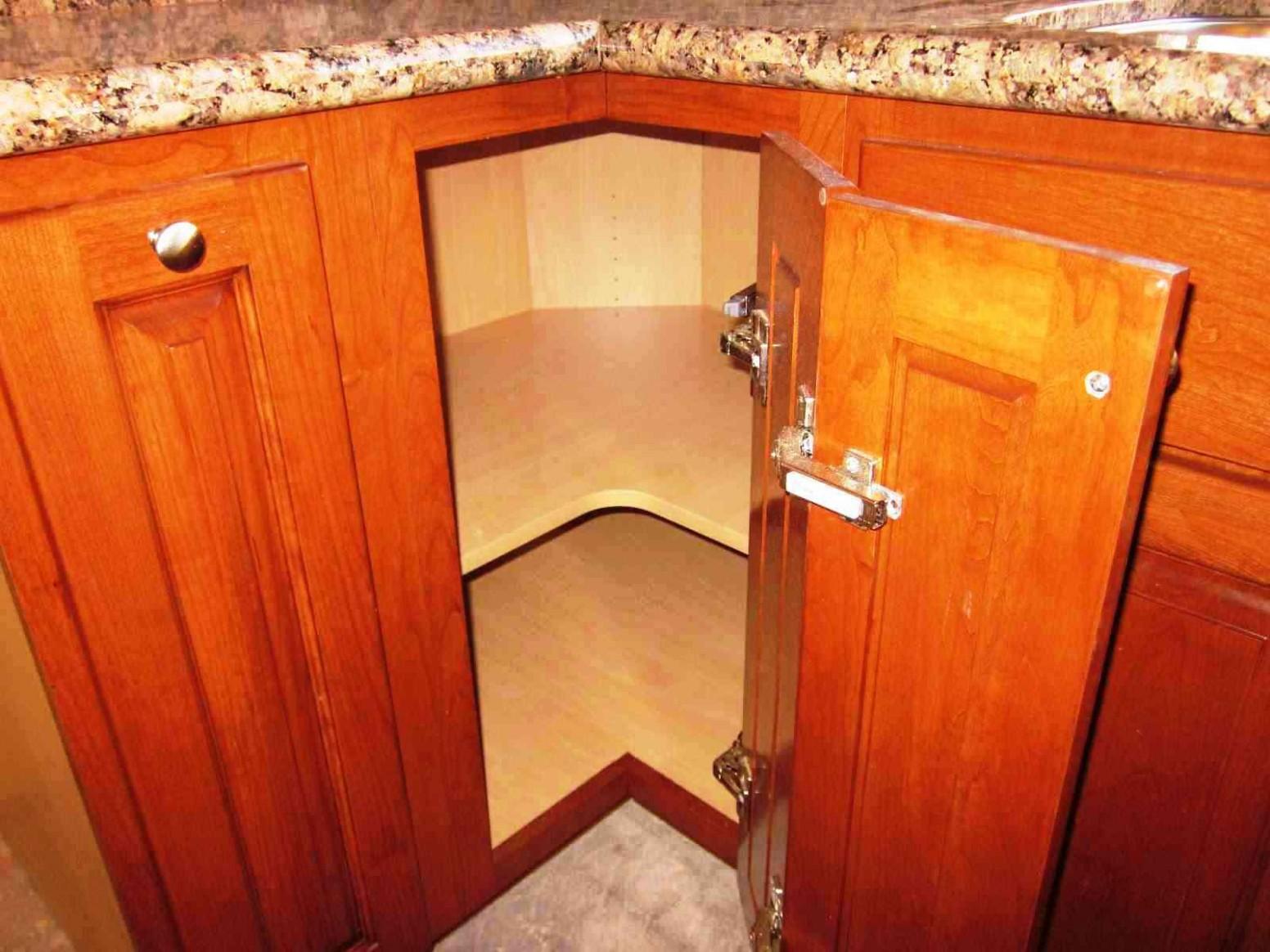 Corner Kitchen Cabinet: Squeeze More Spaces - Home Design & Decor Idea - Corner Hanging Kitchen Cabinet
