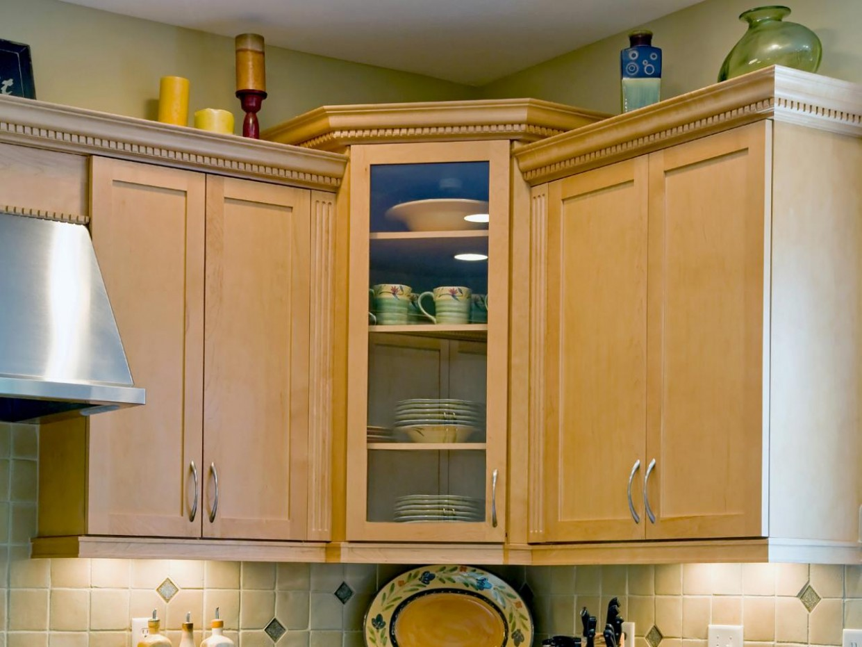 Corner Kitchen Cabinets: Pictures, Ideas & Tips From HGTV  HGTV - Corner Hanging Kitchen Cabinet
