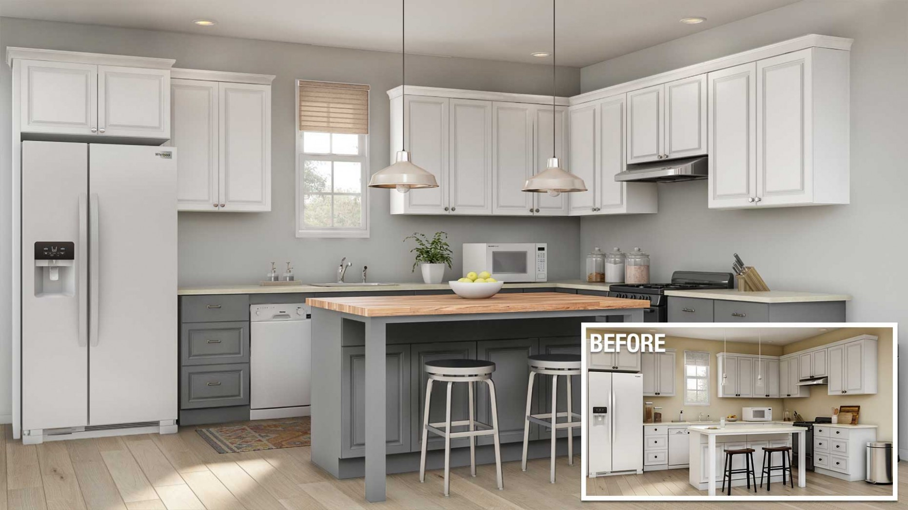 Cost to Remodel a Kitchen - The Home Depot - How Much Are Kitchen Cabinets Per Foot