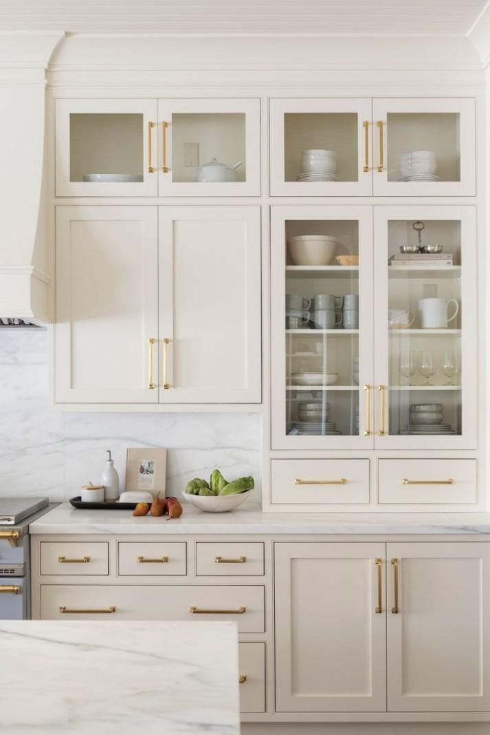 Cove Remodel Part One Photo Tour #swisscoffeebenjaminmoore Kitchen  - Swiss Coffee Paint Kitchen Cabinets