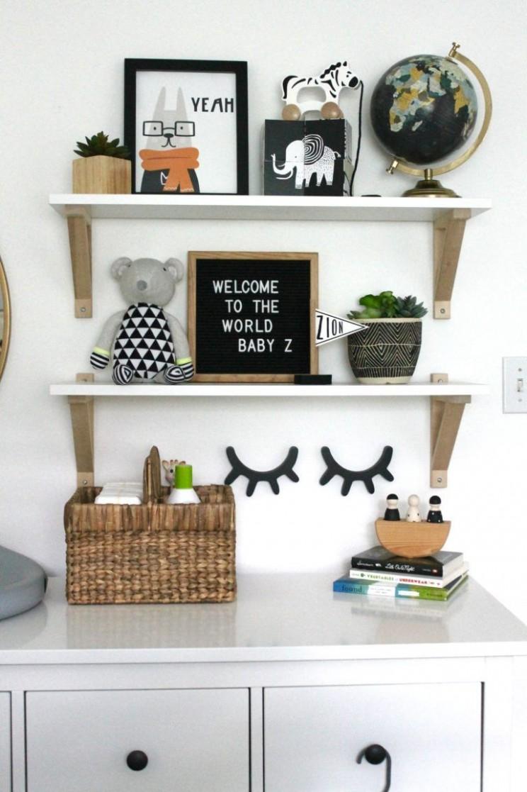 Cozy Little Boy Nursery Ideas - Project Nursery  Baby room  - Baby Room Shelves