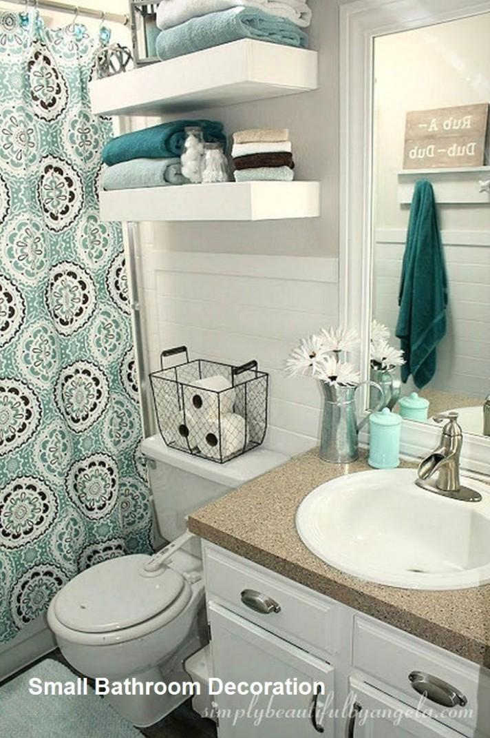 Cozy Small Bathroom Decor Ideas in 9  Bathroom decor, Small  - Small Apartment Decorating Ideas Bathroom