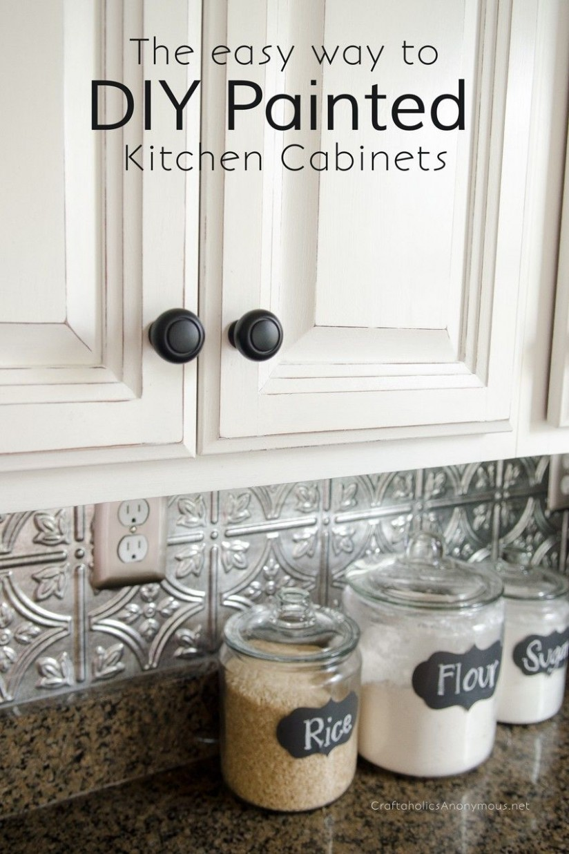 Craftaholics Anonymous®  How to Paint Kitchen Cabinets with Chalk  - Diy Chalk Paint On Kitchen Cabinets
