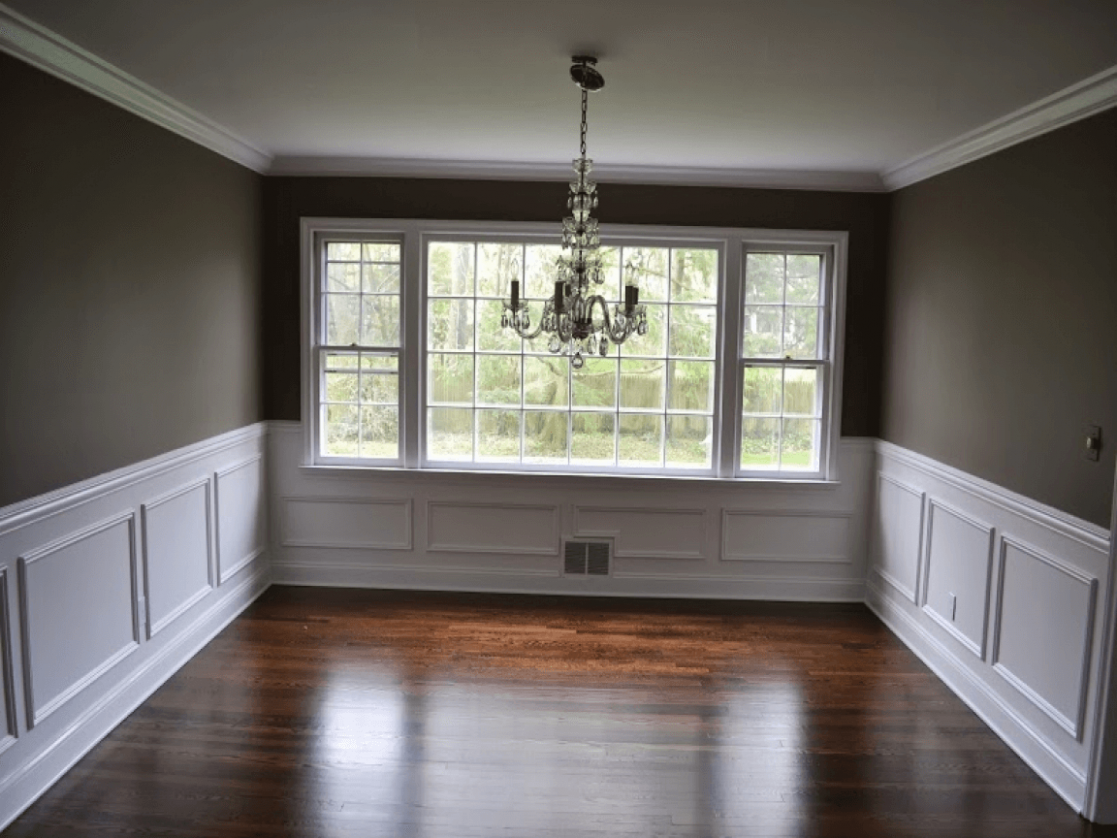 Crown Molding Chair Rail Dining Room Wall Trim Design Ideas  - Dining Room Moulding Ideas
