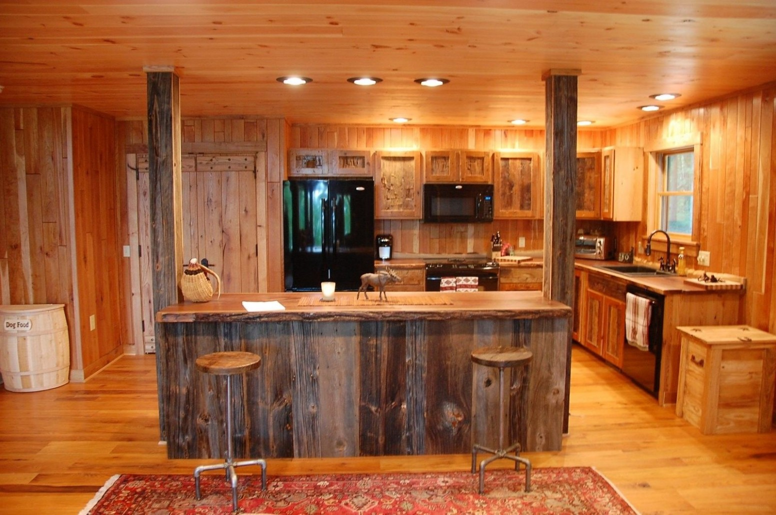 Custom Made Reclaimed Wood Rustic Kitchen Cabinets by Corey Morgan  - Adirondack Kitchen Cabinets