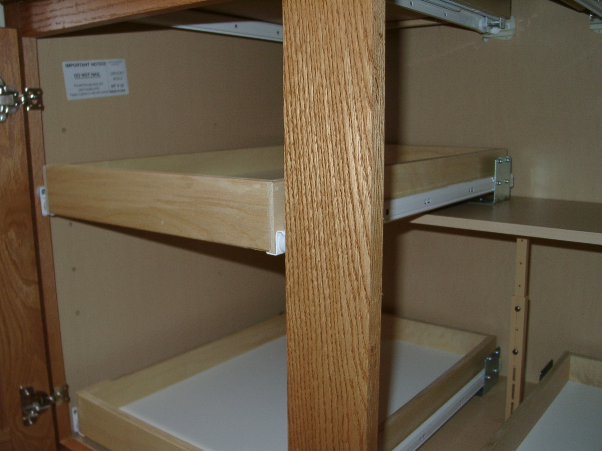 Custom pull out shelving soultions DIY - do it yourself Shelves  - How To Remove Kitchen Cabinet Shelf Clips