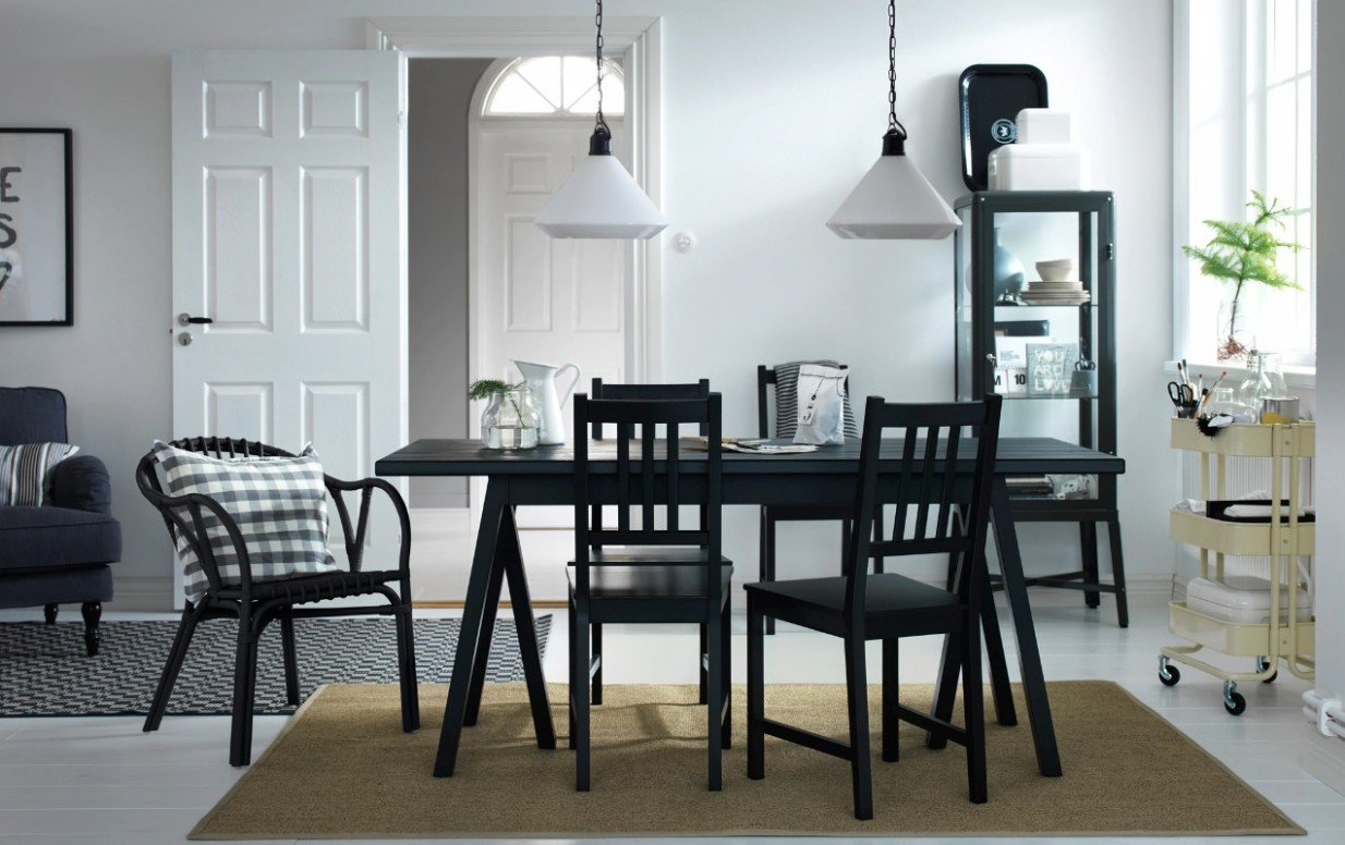 Dark Dining Room Modern Ideas - Dining Room Ideas With Black Table