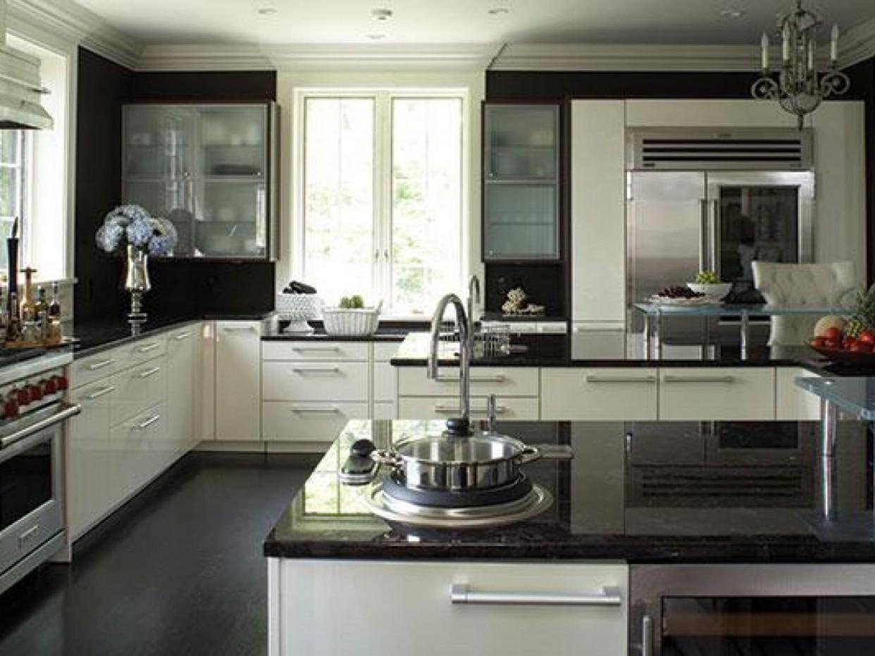 Dark Granite Countertops  HGTV - Kitchens With White Cabinets And Dark Granite Countertops
