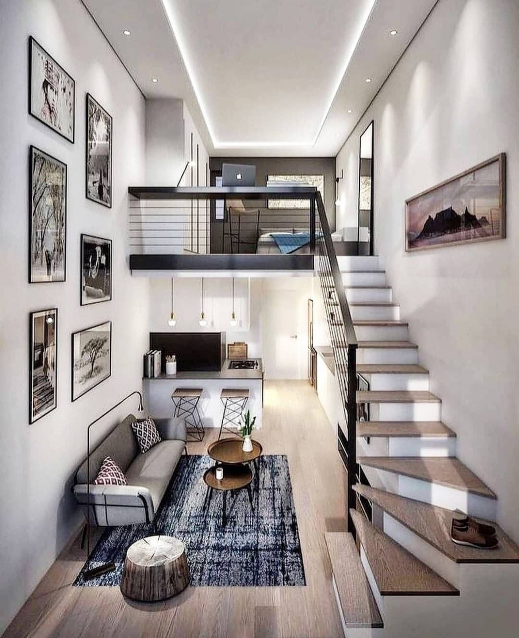 "Decor on Instagram: ""Need some inspiration for your small loft  - Apartment Design With Loft"