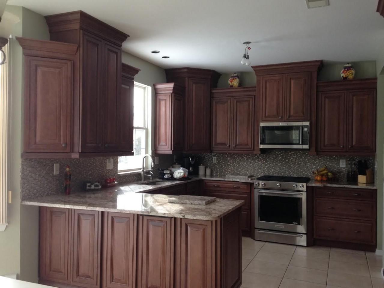 Decora Cinnabar in the Whillshire Door  Complete kitchens  - Red Bank Kitchen Cabinets