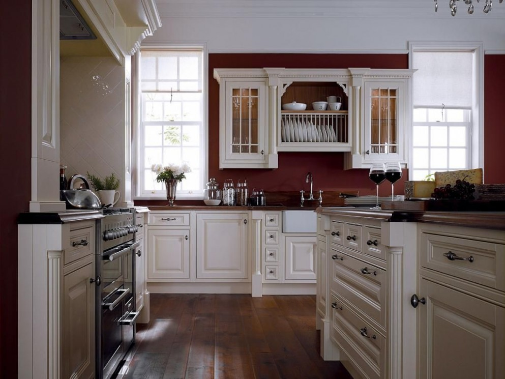 Decorate a White Cabinets Red Walls Kitchen and Photos - http  - Red Bank Kitchen Cabinets