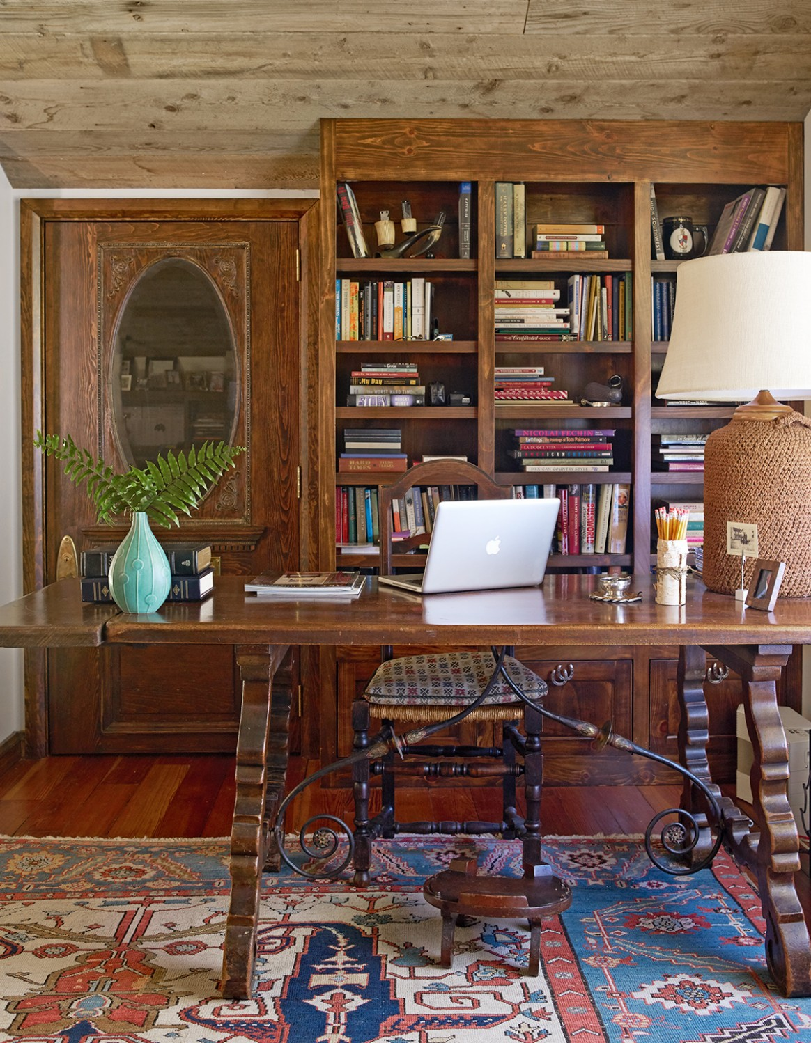 Decorate Your Home Office with Country Style  Better Homes & Gardens - Home Office Ideas Rustic