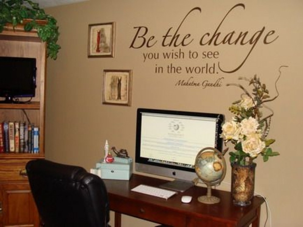 Decorating Office Walls Images About Decor Small At Work Home  - Wall Decor Ideas Office