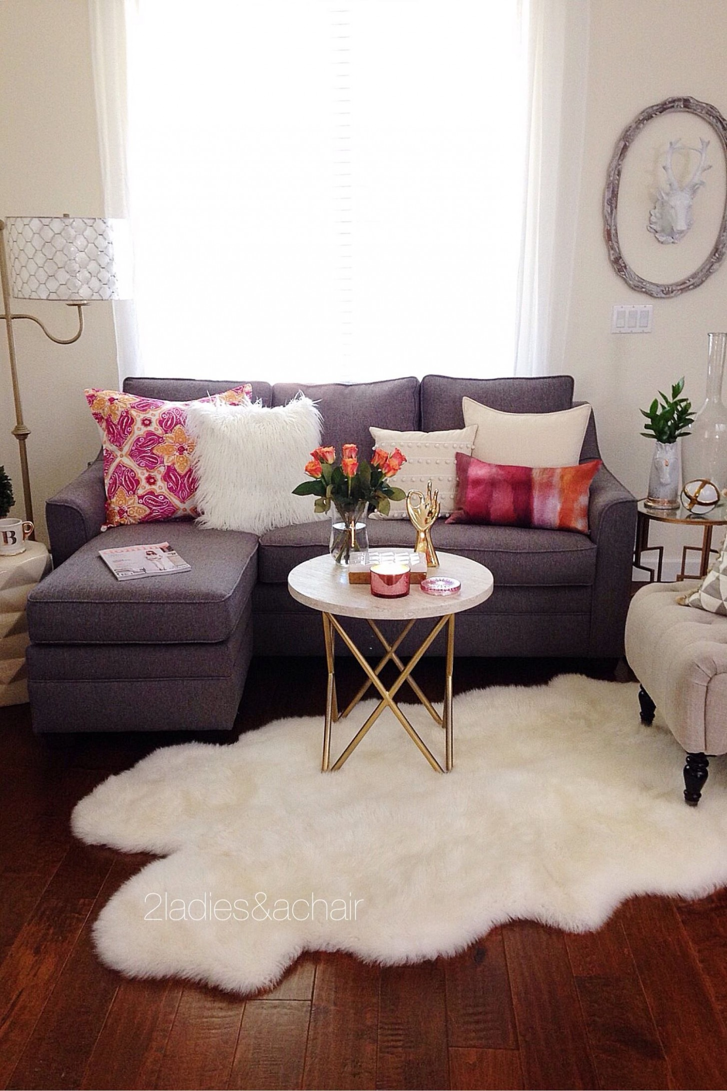 Decorating with Bright Colors — 12 Ladies & A Chair  Small  - Living Room Ideas For Apartment