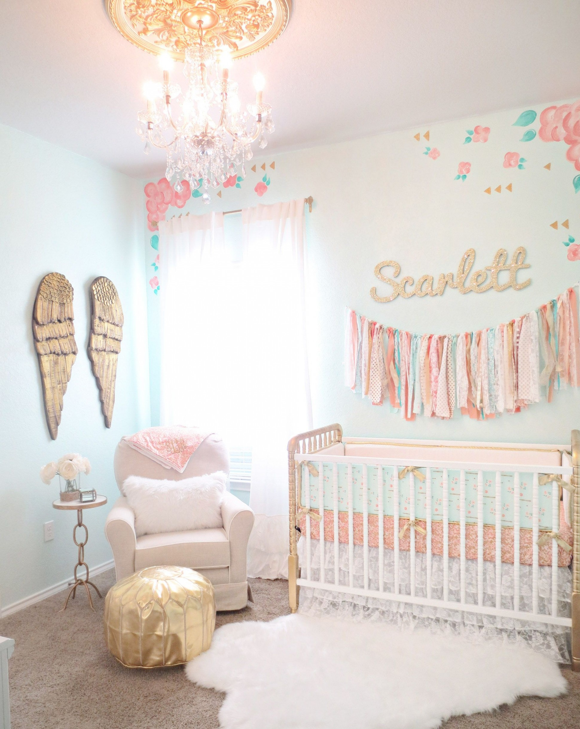 Design Reveal: Vintage Lace Nursery - Project Nursery  Baby girl  - Baby Room Decor Girl