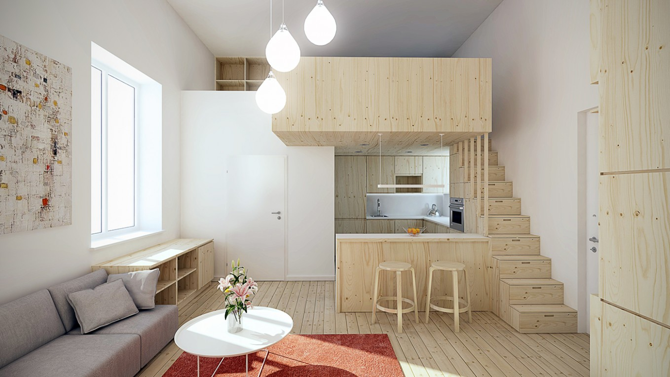 Designing For Super Small Spaces: 12 Micro Apartments - Apartment House Design Ideas