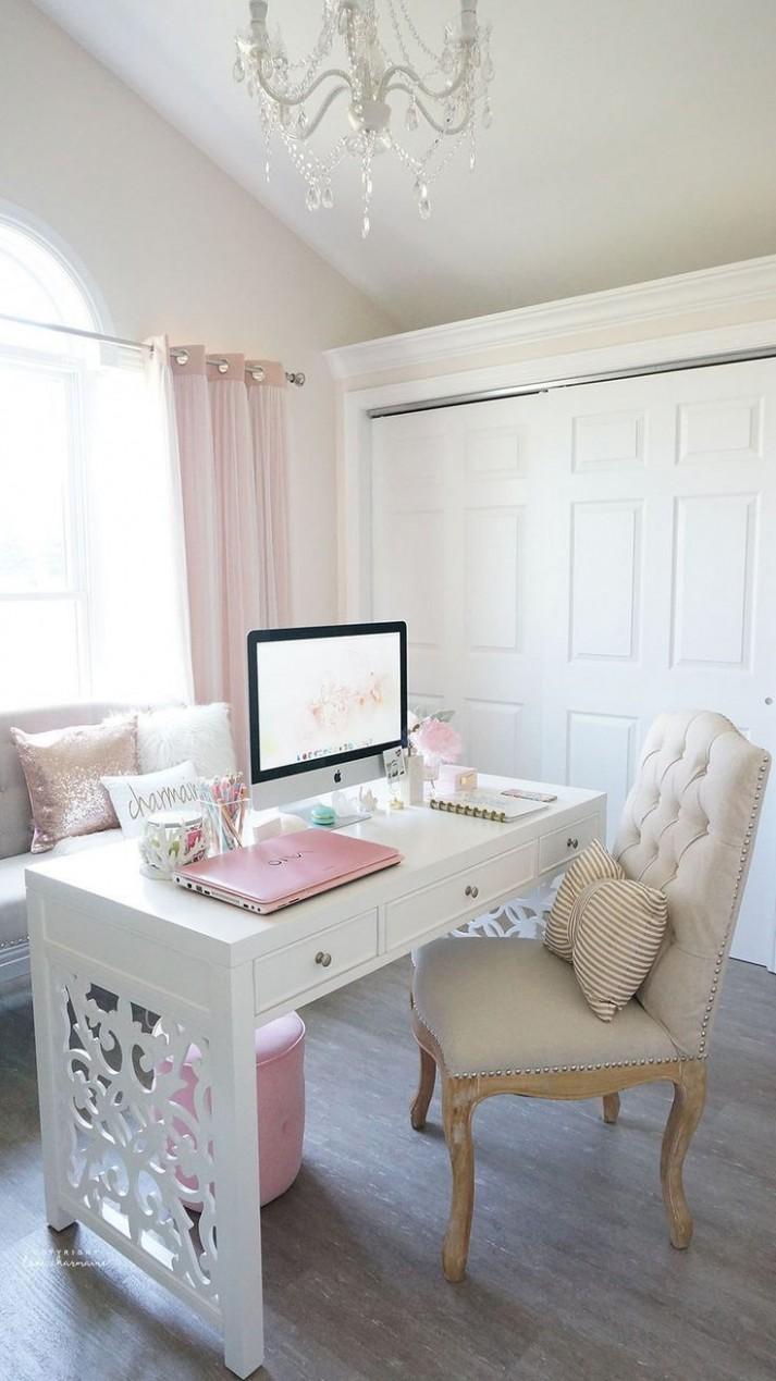 Desk Tour - Love, Charmaine  Home office decor, Feminine home  - Home Office Ideas Cute