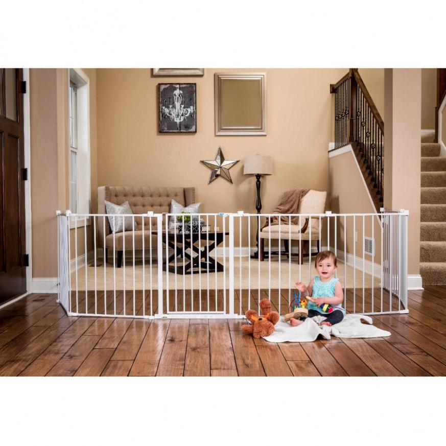 Details about 10 ft Wide Baby Gate Playard Pet Dog Fence Barrier Room  Divider Pen Ring Playpen - Baby Room Divider