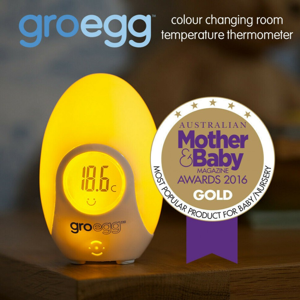 Details about 10 PACK GRO EGG BABY ROOM DIGITAL THERMOMETER + NIGHT LIGHT  ROOM TEMPERATURE - Baby Room Temperature Egg