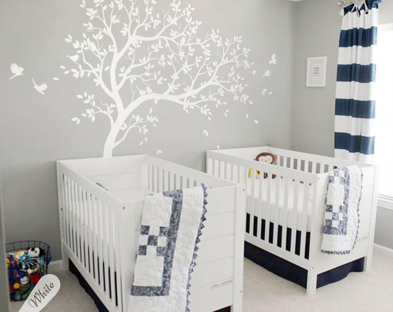 Details about Large tree wall decals, tree wall stickers, Nursery wall  tattoos baby room KW12R - Baby Room Wall Decals