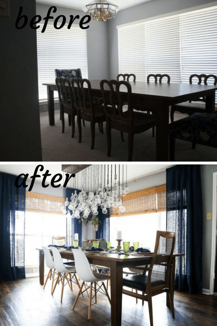 Dining room before & after  Dining room makeover, Dining room  - Dining Room Update Ideas