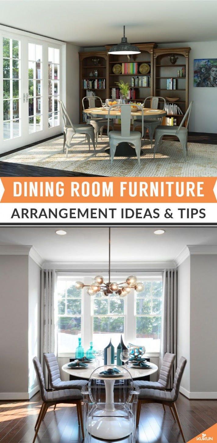 Dining Room Furniture Arrangement ideas and Tips - KUKUN  Dining  - Dining Room Arrangement Ideas