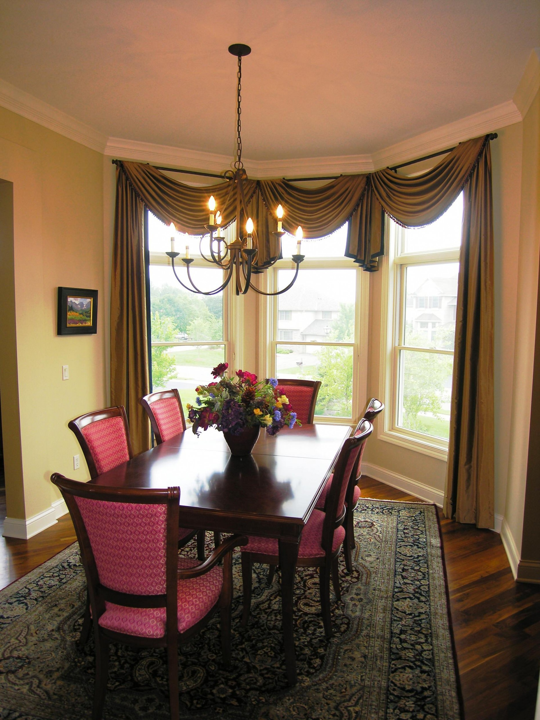 Dining Room Window Treatments  Houzz - Dining Room Valance Ideas