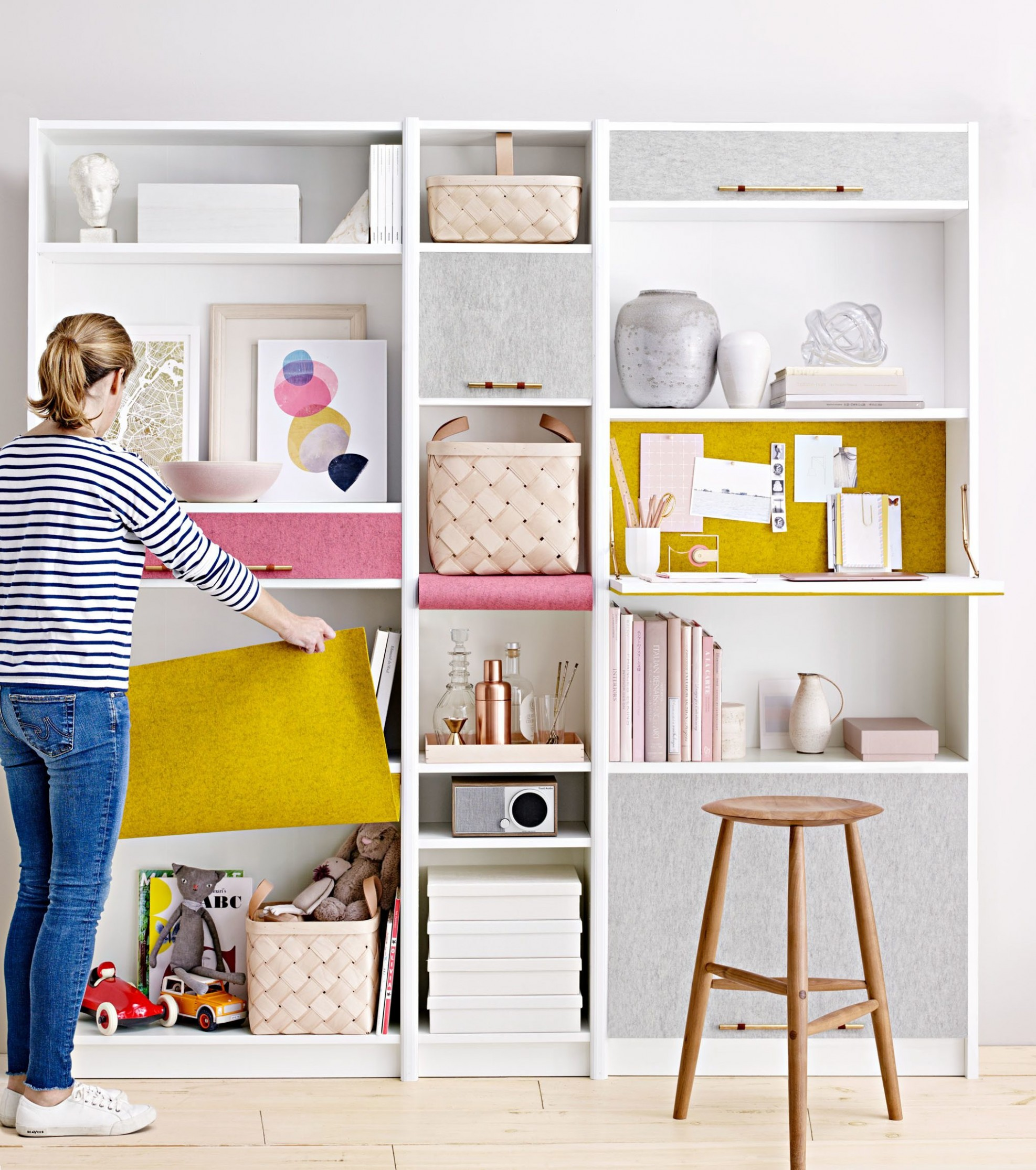 DIY Desks That You Can Build for Your Home Office  Martha Stewart - Home Office Bookshelf Ideas